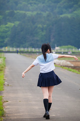 Model: (kanon_7) Tags: portrait schoolgirl   seifuku