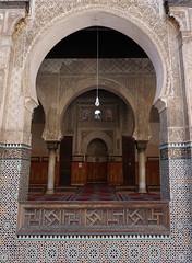 Fes El Bali Morocco-Medersa Bou Inania.4-2016 (Julia Kostecka) Tags: morocco fes madrasa medersa feselbali medersaelattarine