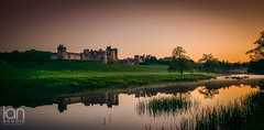 Mist (ianbrodie1) Tags: old longexposure trees sunset castle history water reflections reeds outdoors nikon alnwick northumberland d750 colourful alnwickcastle