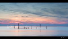 magic moment part II (Just me, Aline) Tags: longexposure sunset sea zonsondergang zee explore rockanje visnetten langesluitertijd leefilter alinevanweert 201605 littlestopper 9ndhg