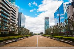 esplanade du gnral de gaulle (Chakib.T) Tags: city urban paris colors architecture clouds movement nikon cityscape nd longexpossur d800e