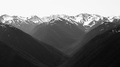 She Turned Him Into Mountains (John Westrock) Tags: blackandwhite mountains nature monochrome contrast landscape washington pacificnorthwest hurricaneridge olympicmountains canonef100400mmf4556lisusm canoneos5dmarkiii johnwestrock