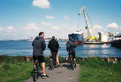 Ride to Zaandam (Alek Mesev) Tags: amsterdam zaandam canon canonet g17 giii fujifilm superia xtra 400 bicycle ride