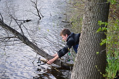Bannister Lake, Ontario (douglasmmiller810) Tags: lake fish storm tree up landscape fishing day cloudy doug father son brock pike bannister hung tangled hungup