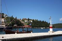 Tourist boat (Vojinovic_Marko) Tags: sea nature water port town dock nikon waterfront hellas greece seafront sivota ioniansea ionian syvota touristboat  grka   jonskomore d7200 nikond7200