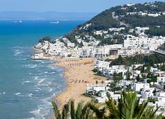 La Marsa Plage (Mashhour Halawani) Tags: tunisia tunis lamarsa plage beach mediterranean sea sidi bou said beautiful landscape nature cityscape nikon travel