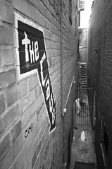 Descent (F. Neil S.) Tags: brick club blackwhite alley livemusic basement cave walls venue collegetown