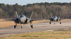 F-35BPairTaxi_USMarineCorps_KNBC169 (Tony Osborne - Rotorfocus) Tags: marine fighter martin south united ii corps carolina strike states lightning lockheed beaufort joint mcas jsf f35 2016 f35b