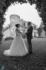 Frame (grimaux.jordan) Tags: wedding bw white black castle love couple husband lovers wife mariage facetoface
