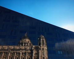Reflected (dangerouslyoriginal) Tags: sky reflection liverpool iphone iphoneography iphoneonly shotoniphone6s