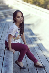 Sheena stairs (Torgeir Eikrem) Tags: light summer fashion norway canon model natural body 85mm full