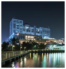 Fuji TV @ Odaiba, Tokyo (280516) (n._y_c) Tags: city urban architecture night tokyo cityscape fuji x odaiba xseries hiroshihara fujifim xt1 xf1024