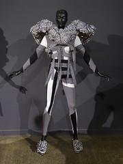 Optical by Renee Louie (Steve Taylor (Photography)) Tags: shadow newzealand blackandwhite man art mannequin lines fashion wow design optical nelson nz southisland cloth worldofwearableart worldofwearablearts reneelouie