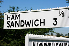 25.52 Sign Language - Ham Sandwich (Mr-F.org) Tags: signs kent sandwich signpost hamsandwich