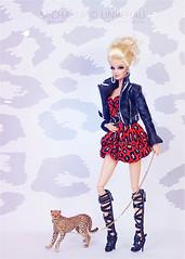 Wild Girl (Michaela Unbehau Photography) Tags: city mannequin look animal print toys photography model doll dolls fotografie shine dress boots barbie jacket mode fashiondoll mattel michaela puppe integrity the pinkscroll unbehau httpswwwfacebookcomdollimages httpswwwinstagramcommichaelaunbehau wwwetsycomdeshoppinkscroll