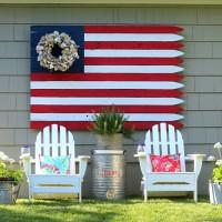 Huge DIY Wood Flag and Huge Giveaway (drucillamalbrough) Tags: wood vintage diy flag giveaway huge eclectically