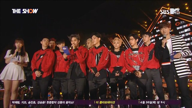160628 SBS MTV The Show EXO - Interview + Lucky One + Monster Chamita's blog.mkv_snapshot_00.02_[2016.07.03_21.00.09]