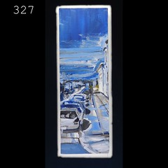 327 (anthony.papini) Tags: urban abstract painting vanishingpoint highway cityscape traffic collection series missiondistrict urbanlandscape rainynight artexplosion sanfranciscoart apaintingaday acrylicpaintingelephant 365paintings