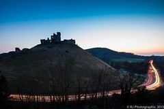 Corfe-3 (RJ Photographic) Tags: sunset landscape dorset lighttrails carlights steamtrain corfecastle leefilters
