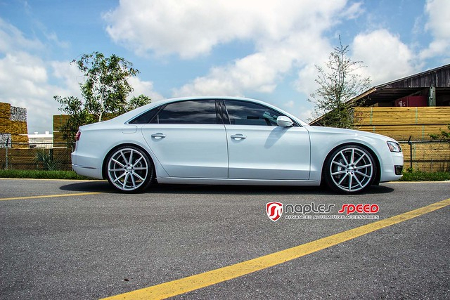 audi a8 vfs1 silverpolished