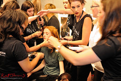 Madison & H&MU team before the Watson x Watson show. (Kent Johnson) Tags: hair nikon models sydney makeup australia redhead redhair modelling redken carriageworks 2015 daywalker mbfwa 1600adjsecrp1686 imgaustralia