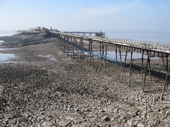 Birnbeck Pier at low tide (Rivercider) Tags: