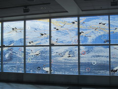 Hung Liu (rocor) Tags: mural terminal2 oaklandairport hungliu temperedglass goingawaycominghome