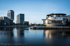 Salford Quays #6 (Fiverdog) Tags: longexposure architecture clouds manchester salfordquays salford modernarchitecture mediacity blurredwater milkywater blurredclouds longexposurewater mediacityuk