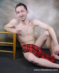 TJ in a Wallace Tartan (kiltedbros) Tags: kilt plaid kilts swag tartan sett manskirt