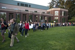 TBTN March Past Knight Library II (meerahpowell) Tags: people college oregon march nikon university rally sigma eugene uo feminism pnw uofo universityoforegon patriarchy takebackthenight tbtn sigmalens rapeculture sexualassualt nikond3300 d3300