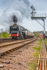 Speeding Dragon ! (Tony Teague (Slowcomo)) Tags: leicestershire greatcentralrailway thereddragon brclass9f swithlandsidings canonef70200mmf28lisiiusmlens canoneos5dmkiii no92214 tonyteague slowcomo timelineeventscharter no92220eveningstar92214