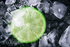 Lime and ice (foodfulife) Tags: summer cold green ice blackbackground fruit lemon cool acid fresh ingredients citrus lime darkbackground serenacarminati foodfulife