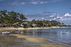 Au bord du bassin d'Arcachon (Denis Vandewalle) Tags: sea mer water landscape sable plage arcachon ocan aquitaine gironde