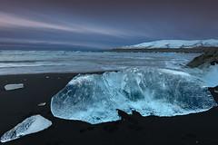 Pinks Skies & Blue Ice (Marshall Ward) Tags: ocean seascape ice sunrise landscape dawn iceland icebergs icebeach nikond800 afszoomnikkor2470mmf28ged marshallward