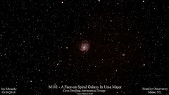 M101_20160326_HomCavObservatory_ResizeDown2HD (homcavobservatory) Tags: spiral major observatory galaxy astrophotography astronomy ursa m101 faceon homcav