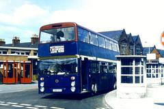 Slide 059-91 (Steve Guess) Tags: uk england bus leicestershire south gb loughborough daimler fleetline notts