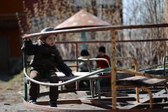 random guest (irina.slavich) Tags: street sun cute beauty sunshine kids walking children kid spring movement mood guys carousel