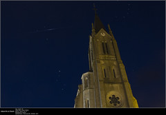 20160523_Iridium 64 on church (Clapiotte_Astro) Tags: church night flash flare astronomy nuit glise vents vende iridium treize astronomie canon700d