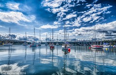 boats (blairmchattiephotography) Tags: world blue sky water clouds reflections photography scotland pier nikon waterfront harbour fife outdoor earth d7000