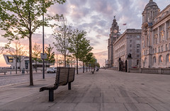 After glow (SiKenyonImages) Tags: sunset sky clouds liverpool threegraces pierhead liverbuildings