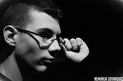 Serious. (nemanjajovanovic) Tags: portrait white black monochrome contrast darkness serious