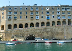 Malta (REBEL--) Tags: street sea seascape rabbit water gardens night lights boat alley lift malta upper alleyway valletta birgu barrakka