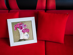 Mother's Day (Explored May 9th, 2016) (kietbull) Tags: leica red color art painting colorful day mother picture olympus couch sofa draw summilux 15mm f28 f17 explored em5markii kietbull