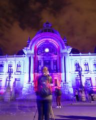 Video mapping CEC Palace (georgemoga) Tags: street longexposure light people building statue festival photographer spotlight romania column ro bucharest bucureti municipiulbucureti