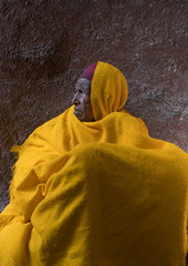 Portrait of a monk woman in yellow shawl during kidane mehret celebration, Amhara region, Lalibela, Ethiopia (Eric Lafforgue) Tags: africa portrait people color vertical religious outdoors photography clothing women day alone adult african faith religion profile ceremony christian unescoworldheritagesite celebration devotion christianity shawl spirituality tradition ethiopia orthodox pilgrimage worshipper pilgrim oneperson developingcountry lalibela hornofafrica ethiopian eastafrica abyssinia traditionalclothing realpeople onewomanonly waistup africanethnicity 1people oneseniorwomanonly amhararegion oneadultonly ethio163582