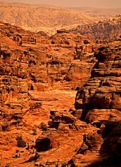 Path to the Monastery 17 (David OMalley) Tags: world city heritage rose rock stone site desert path petra siq carving unesco east jordan monastery arab middle carvings jordanian monumental jebel nabatean nabateans hewn maan almadhbah