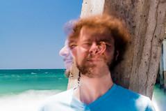 Eugene and Eugene (andrewpabon) Tags: longexposure beach losangeles waves eugene daytime hermosa twoface ndfilter