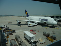 The biggest passanger plane in the world, the A380!