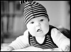 Baby boy (medium format :-) (Michael Wgerbauer) Tags: portrait blackandwhite baby film mediumformat blackwhite portrt portraiture schwarzweiss 6x45 mamiya645 filmgrain orangefilter mittelformat schwarzweis fomapan200 zwischenring mamiya645protl excelw27 sekorc35150n extensionringnr2