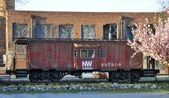 Bedford, Virginia (Bob McGilvray Jr.) Tags: railroad red train bedford virginia nw steel tracks caboose va norfolkwestern nickelplateroad baywindow nkp